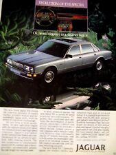 "1988 Jaguar XJ6-Evolution Of The Species-Original Print Ad 8.5 x 10.5"""