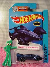 Case M 2015 i Hot Wheels BATMAN LIVE! BATMOBILE #65∞Blue sw5∞Batman