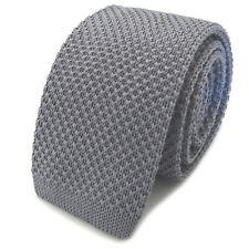 New Luxury Mens Plain Woven Tie (Neck Necktie Solid Men Knitted Skinny Fashion)