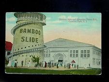 c.1910 Bamboo Slide Crescent Park RI post card Amusement Park