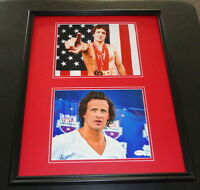 Ryan Lochte Signed Framed 16x20 Photo Set JSA Olympic Medals