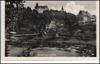 Rochsburg Sachsen DDR Postkarte ~1950/60 Teilansicht mit Mulde und Häuser Partie