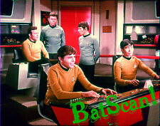 STAR TREK 1968 Original Film Slide AND Color 5x7 Photo #81   The Bridge Boys!