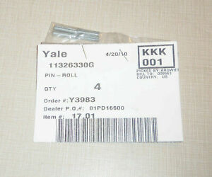 LOT OF 4 NEW YALE 11326330G FORKLIFT ROLLING PINS ROLL PIN