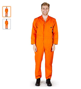 NATURAL WORKWEAR, Mens Long Sleeve Basic Blended Work Coverall (M & L available)