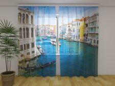 """Fotogardine aus Chiffon """"Venedig"""" Vorhang mit Motiv Fotodruck Maßanfertigung"""