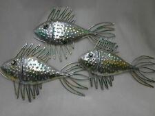 School of 3 Metal Fish Wall Art   (43 x 25.5cm)