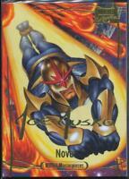 2016 Marvel Masterpieces Gold Signature Trading Card #25 Nova /1999