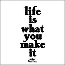 """""""Quotable"""" Greeting Card - LIFE IS WHAT YOU MAKE IT - #QC-C-305"""