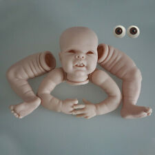 More details for soft reborn baby doll kits blank unassemble parts diy lovely girl +eyes handmade