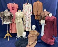 Vintage Dresses 1800's 1920s 1940 Skirt Blouse Lot Of 10