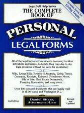 The Complete Book of Personal Legal Forms: Second Edition with Forms o-ExLibrary