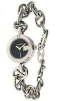 GUCCI Black Dial S-Steel Women's Bracelet Watch 107L