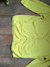 Ladies Boden Yellow 100% Wool Cardigan Size 12
