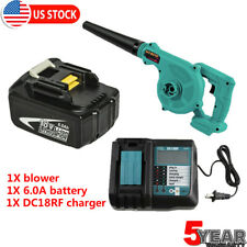 18V Leaf Blower Handheld Cordless Power Tool W/ 6.0Ah battery + Charger Kit