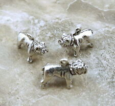 Set of Three (3) Pewter Bulldog Charms - 5165