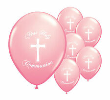 "40 x PINK FIRST HOLY COMMUNION 12"" HELIUM BALLOONS PARTY DECORATIONS  (PA)"