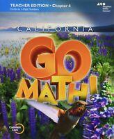 Grade 4 California Go Math Teacher Edition & Planning Guide Bundle 4th Editions