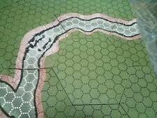 Geo-Hex Battlescape Riverscape Set, Green Flock