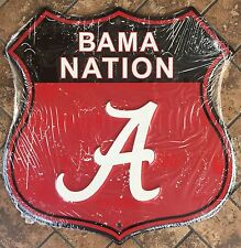 "ALABAMA 12"" X 12"" SHIELD BAMA NATION A METAL SIGN CRIMSON TIDE UNIVERSITY"