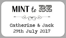 65 MINI MINT TO BE WEDDING FAVOUR LABELS SMALL PERSONALISED STICKERS FOR GIFTS