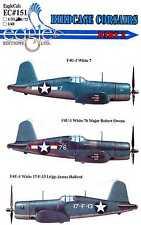 EagleCals Decals 1/72 VOUGHT F4U-1 BIRDCAGE CORSAIR Fighters Part 2