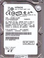 Hitachi HTS545040B9A300 pn: 0A57914 mlc: DA2987 400GB SATA A21-24