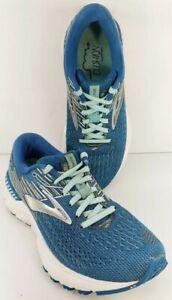 Brooks Women's Sz 6.5B Adrenaline GTS 19 Running Shoes Blue 1202841B417 Lace Up