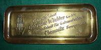 Gebrüder Wächter chemische Fabrik, seltene Werbeschale Messing um 1930, Chemnitz