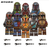 Collection 8pcs Minifigures Mandalorian Star War Jango Fett Boba Fett Custom MOC