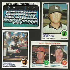 1973 Topps New York Yankees Team Set EXMT (28)