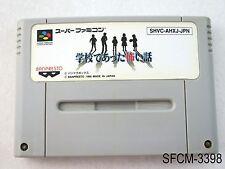Gakkou de atta Kowai Hanashi Super Famicom Japanese Import SFC SNES US Seller B-