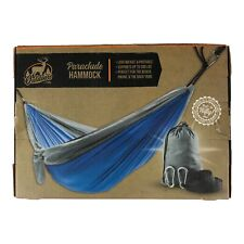Outdoors By Nifty Single Person Parachute Hammock Blue & Gray Colors Brand New