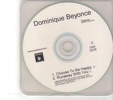 (FM445) Dominique Beyonce, Choose To Be Happy - 2009 DJ CD