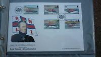 ISLE OF MAN STAMP ISSUE FDC, 1991 LIFEBOAT INSTITUTION SET OF 5 STAMPS, HILLARY