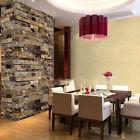 10m Steintapete Stein Vlies Tapete Einfach Schöner 3D Optik Wand Ziegel Mauer#