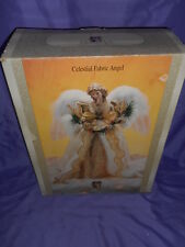 "VINTAGE GRANDEUR NOEL CELESTIAL FABRIC CHRISTMAS ANGEL 16"" TREE TOPPER"