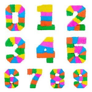 Party Pinata Pinata's Mexican Birthday Set Kids Birthday Game Numbers 0-9