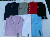 Men's George No Roll Collar Jersey Polo Shirt - Various Sizes and Colors - New