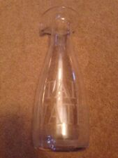 Tall Glass Tap Water Jug / Bottle  Etched With Tap Water