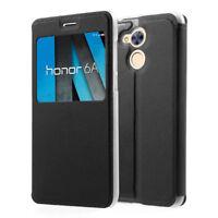 """Etui Housse View Case Flip Folio Leather Cover NOIR pour Huawei Honor 6A 5.0"""""""