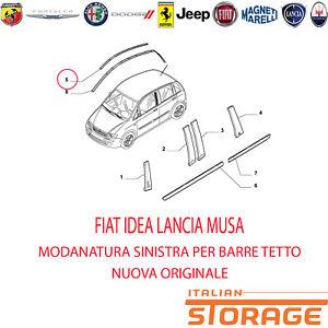 FIAT IDEA LANCIA MUSA MODANATURA SINISTRA PER BARRE TETTO ORIGINALE 735359233