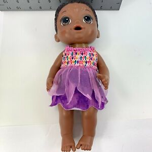 Hasbro Baby Alive Face Paint Fairy Doll Girl African American Brown Hair Eyes