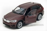 BMW X5 brown, Welly scale 1:34-39, model toy car gift