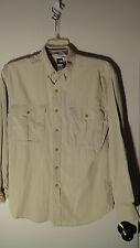 The North Face Tan, Nylon, Vented, LS, Camping/Hiking Shirt, Mens S