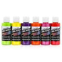 Createx Colors Airbrush Paint Pearlized Sampler Set 5811-00 - 6 Colors - 2 oz