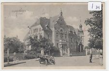 2825, Gumbinnen Kreishaus tolles Auto davor gelaufen 1919 !