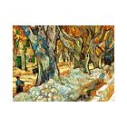 Vincent Van Gogh The Large Plane Trees Vintage Print-FREE US SHIPPING