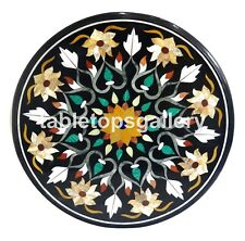 "28"" Mother of Pearl Mosaic Floral Inlay Marble Coffee Table Top Home Decors B138"