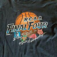 Vintage single stitch NCAA Final Four tee shirt black damaged preowned fog sz XL